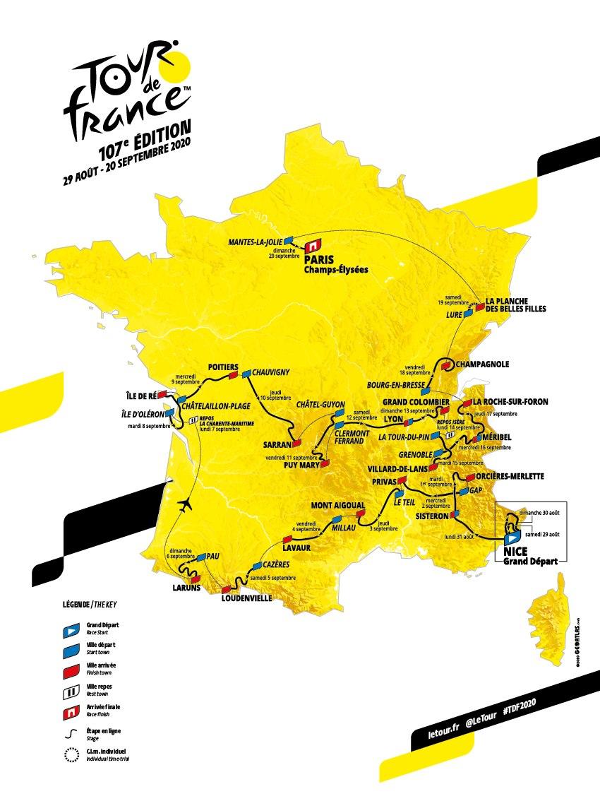 parcours etappe 16 tour 2020