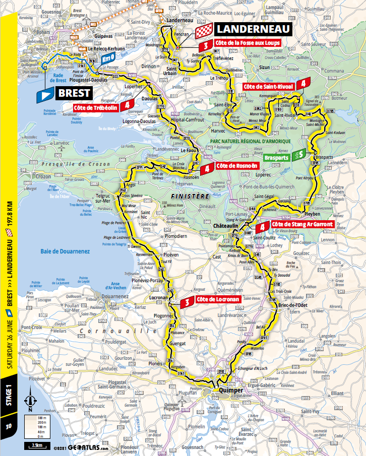 route Etappe 1 tour de france 2021