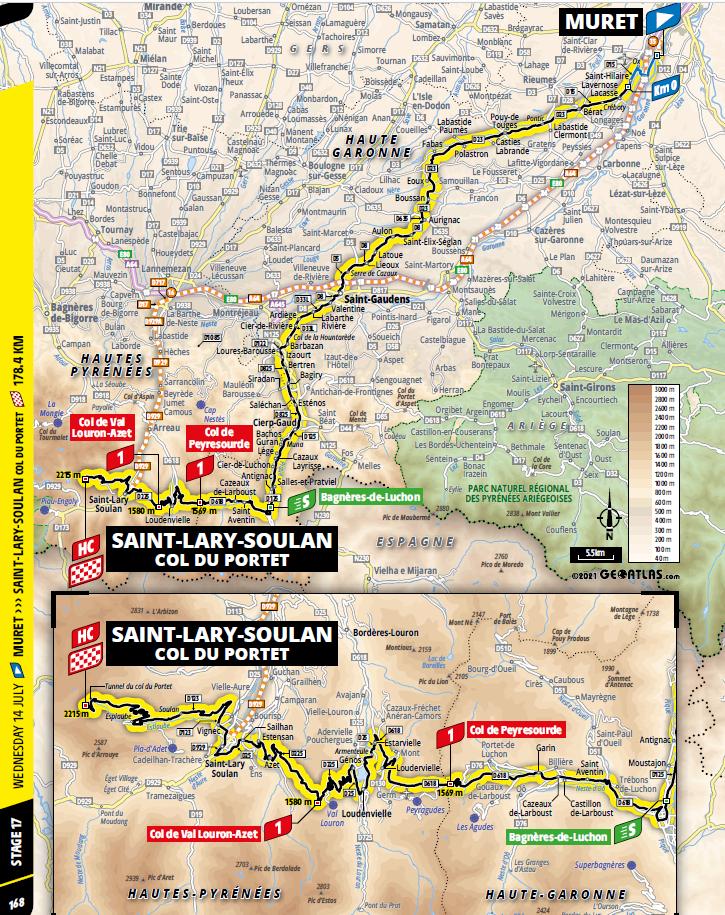 route Etappe 17 tour de france 2021