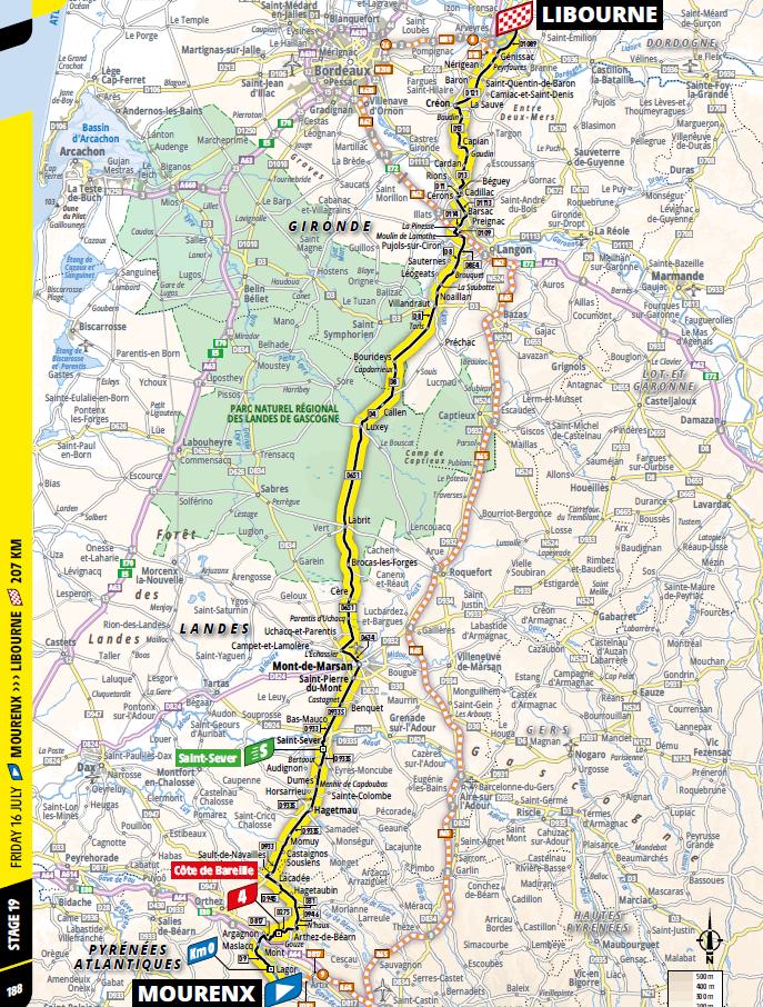 route Etappe 19 tour de france 2021