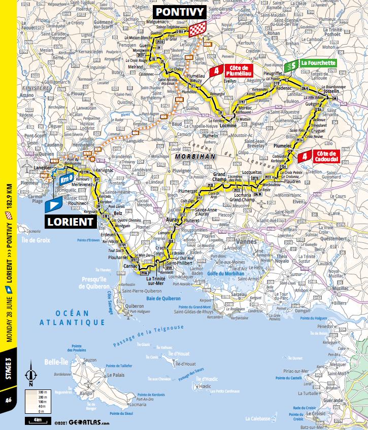 route Etappe 3 tour de france 2021