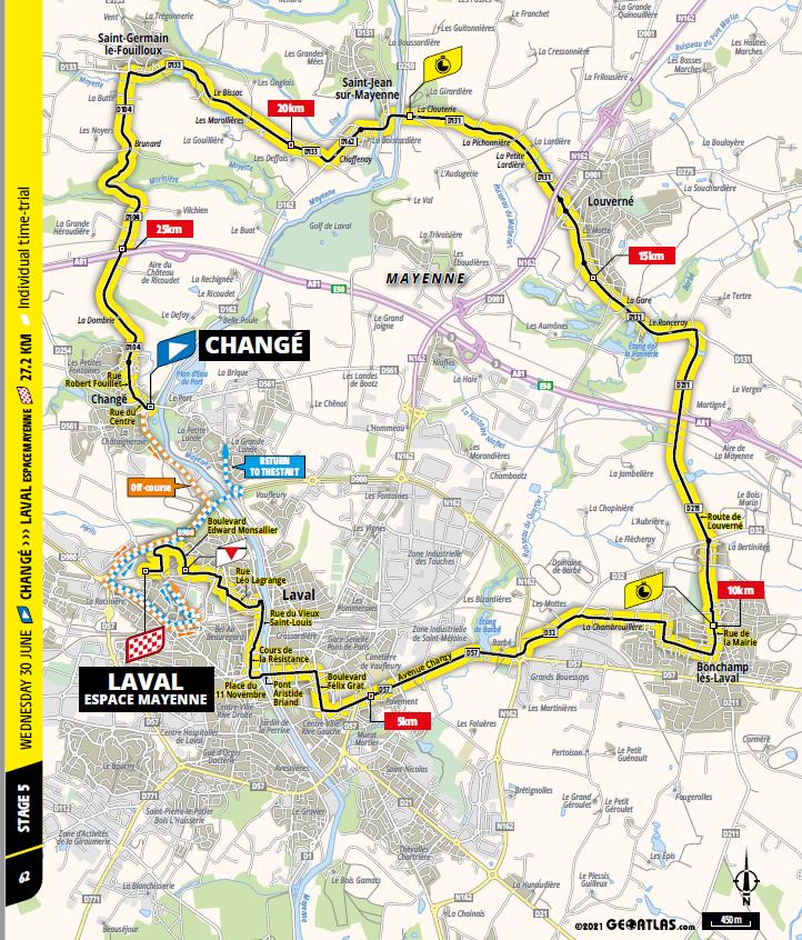 route Etappe 5 tour de france 2021