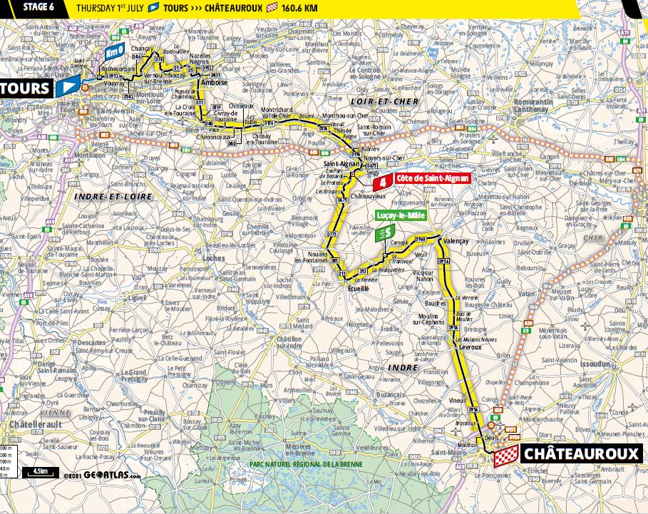 route Etappe 6 tour de france 2021