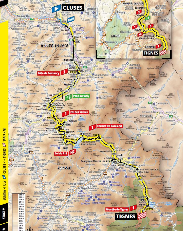 route Etappe 9 tour de france 2021