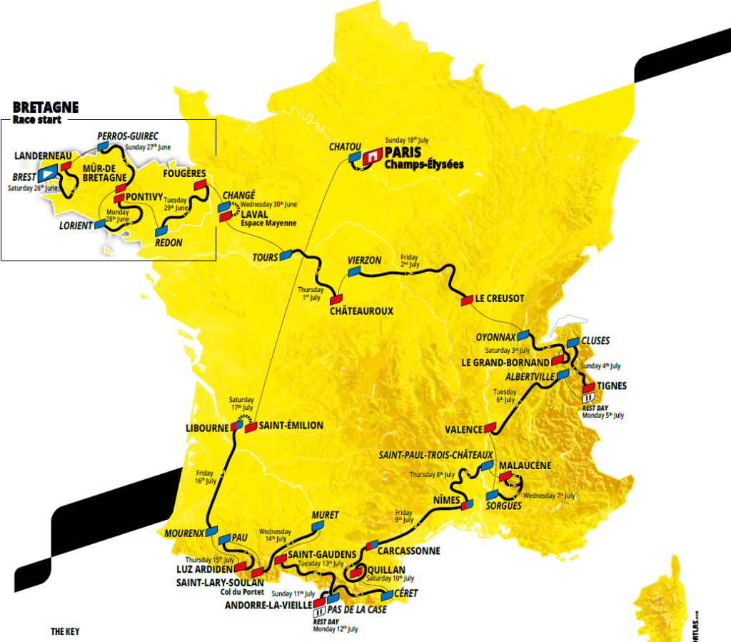 etappes tour de france 2021